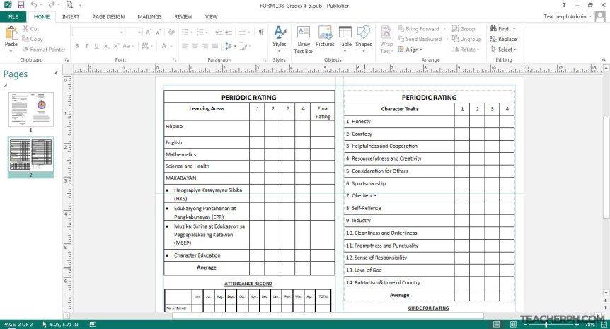 Ulat sa Pasalaysay sa Report Card ng mga Mag-aaral
