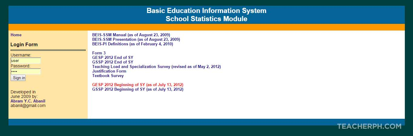 Basic Education Information System (BEIS)