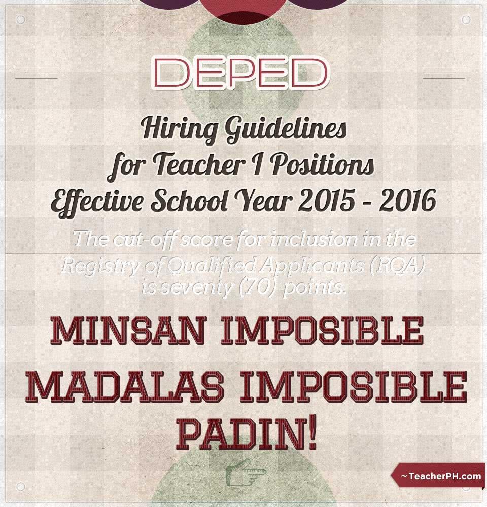 DepEd 2015-2016 Hiring Guidelines
