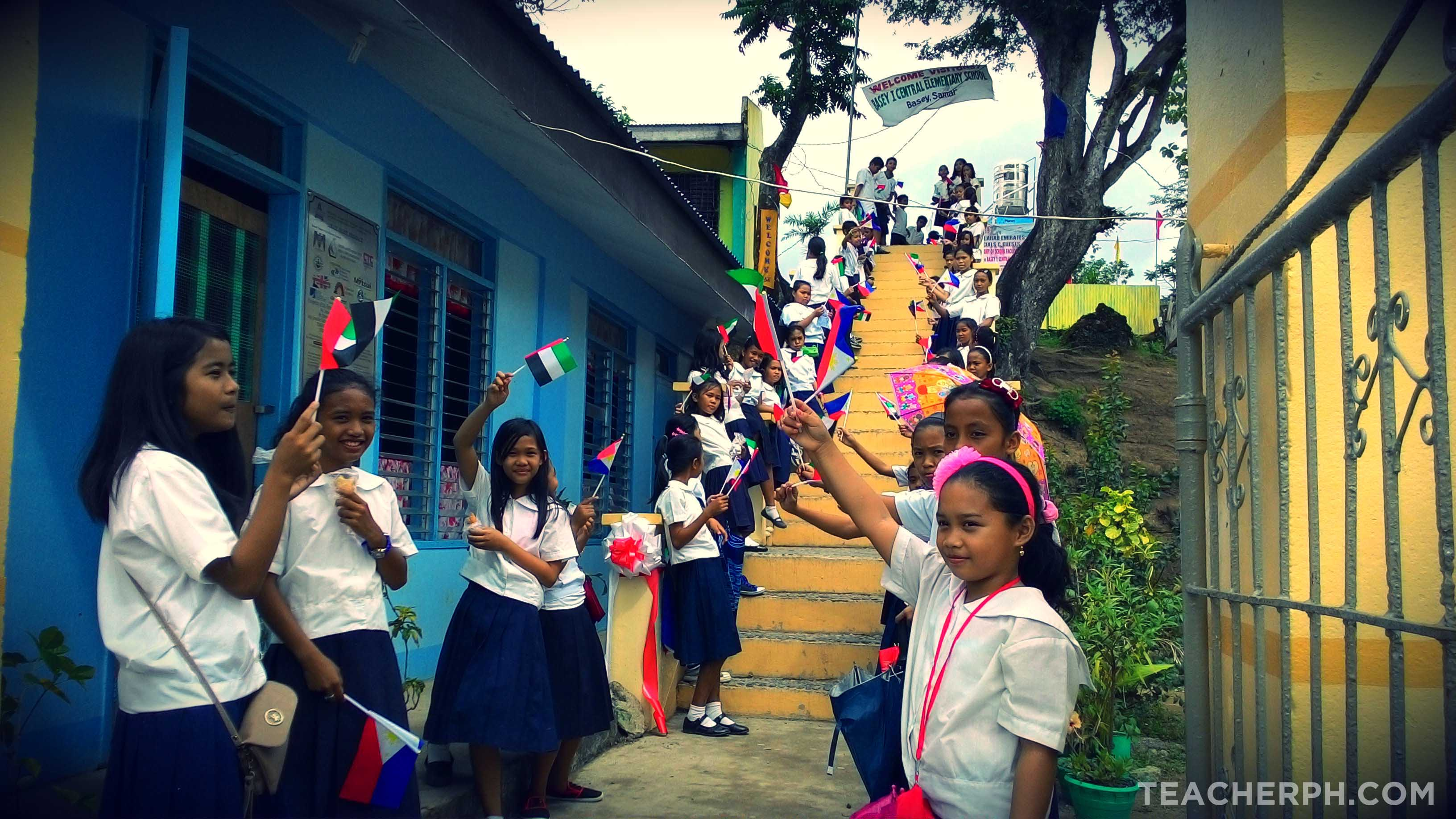 UAE Red Crescent Turn Over Ceremony of School Facilities in Basey, Samar