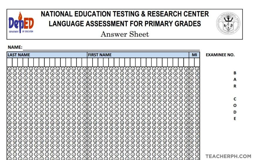 Administration of National Achievement Test and LAPG for Primary Grades