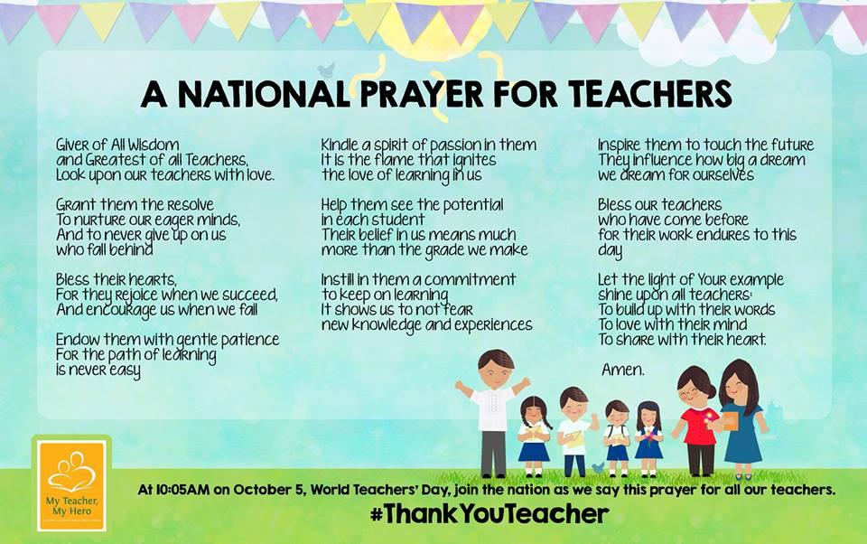 National Prayer For Teachers Teacherph