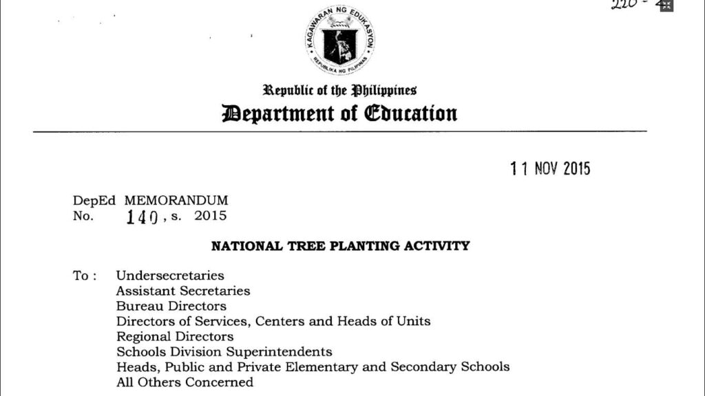 National Tree Planting Activity