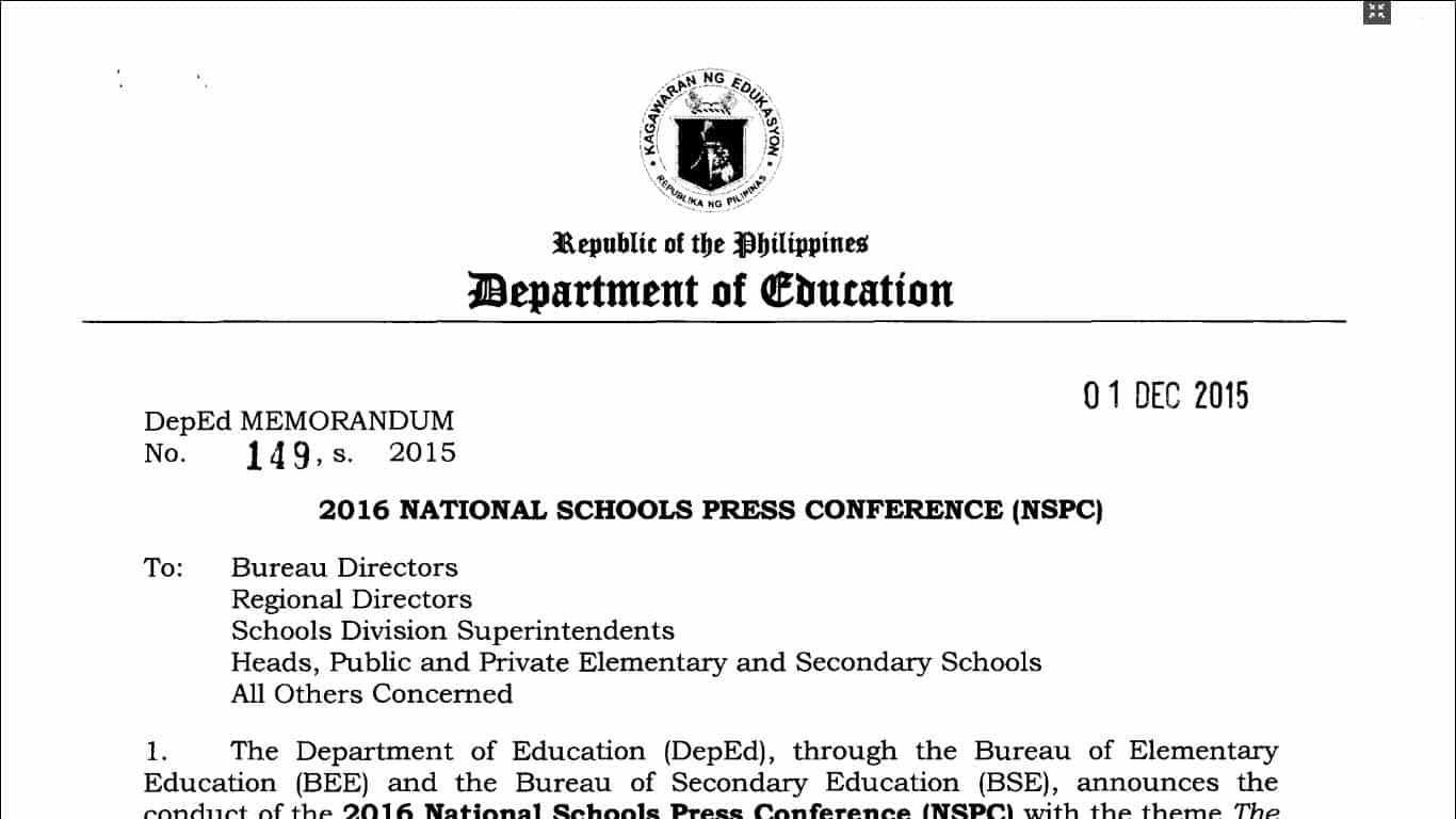 2016 National Schools Press Conference (NSPC) - TeacherPH