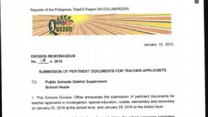 DepEd Quezon Province 2016 Ranking of Teacher Applicants