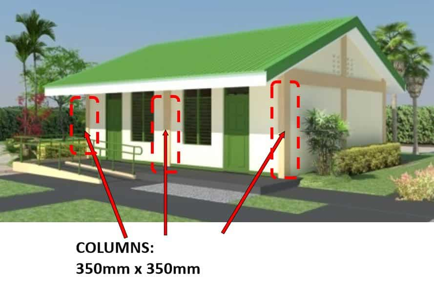 DepEd New School Building Design - Columns