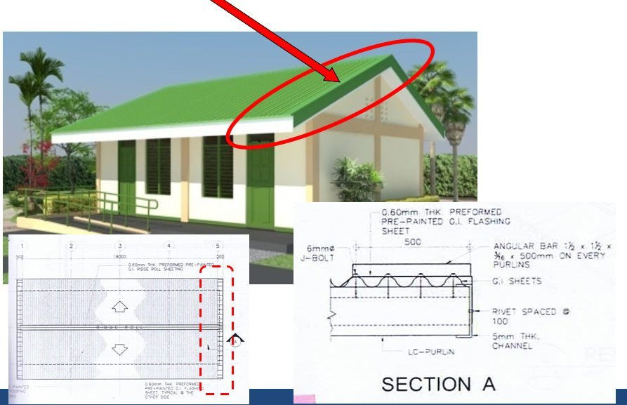 DepEd New School Building Design - Roofing Framing Support