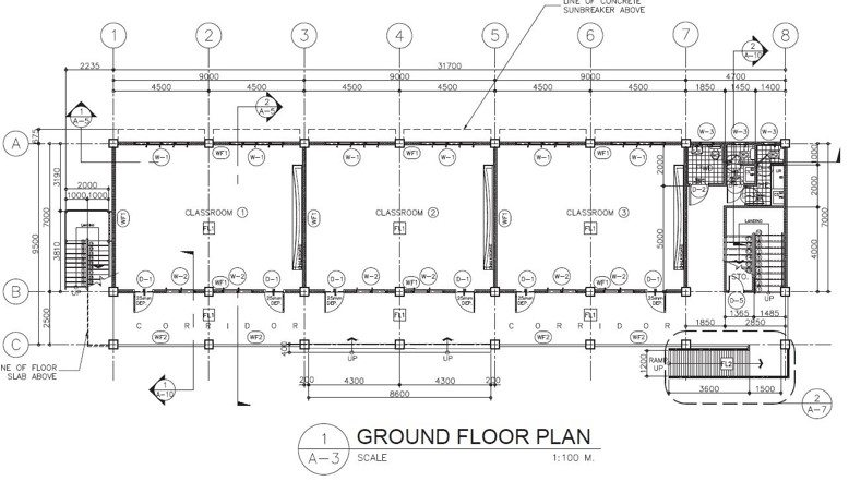 DepEd New School Building Design - Six Classrooms Ground Floor Plan