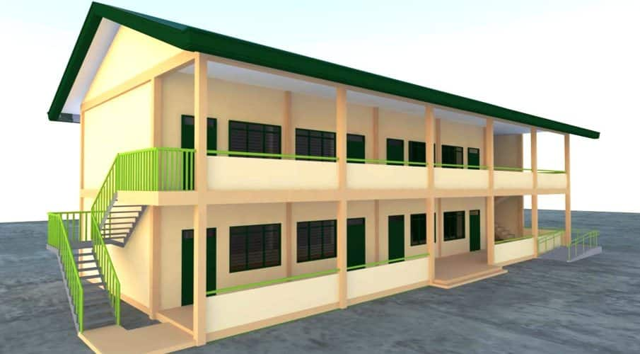 DepEd New School Building Design - TWO (2) STOREY BUILDING