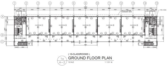 DepEd New School Building Design - Ten Classrooms Ground Floor Plan