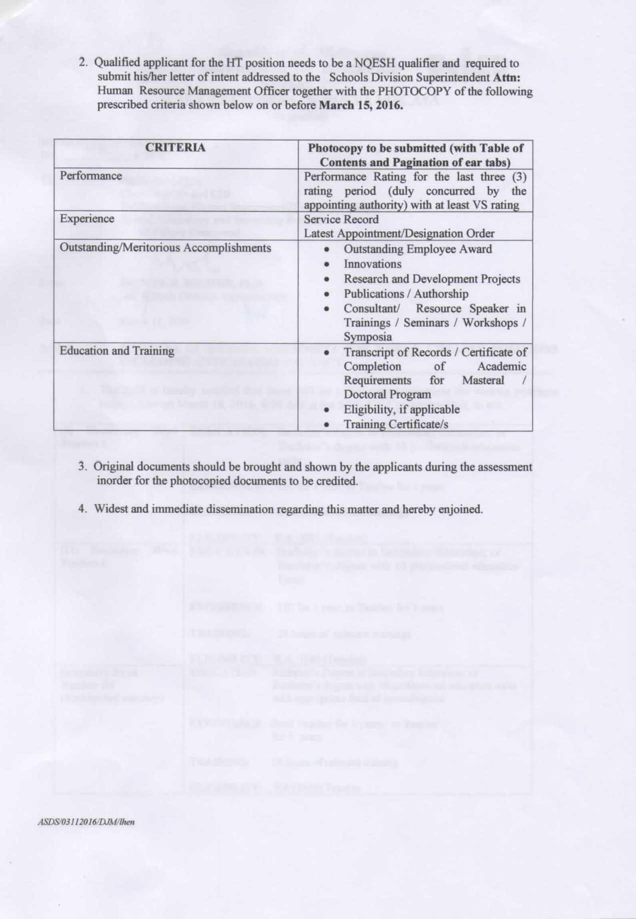 DepEd Nueva Vizcaya Anticipated Vacancy as of March 2016 page 2