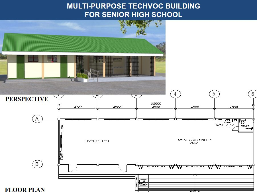 MULTI-PURPOSE TECHVOC BUILDING FOR SENIOR HIGH SCHOOL