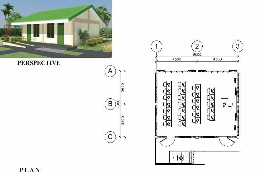SINGLE STOREY COMPUTER LABORATORY BUILDING (7m x 9m)