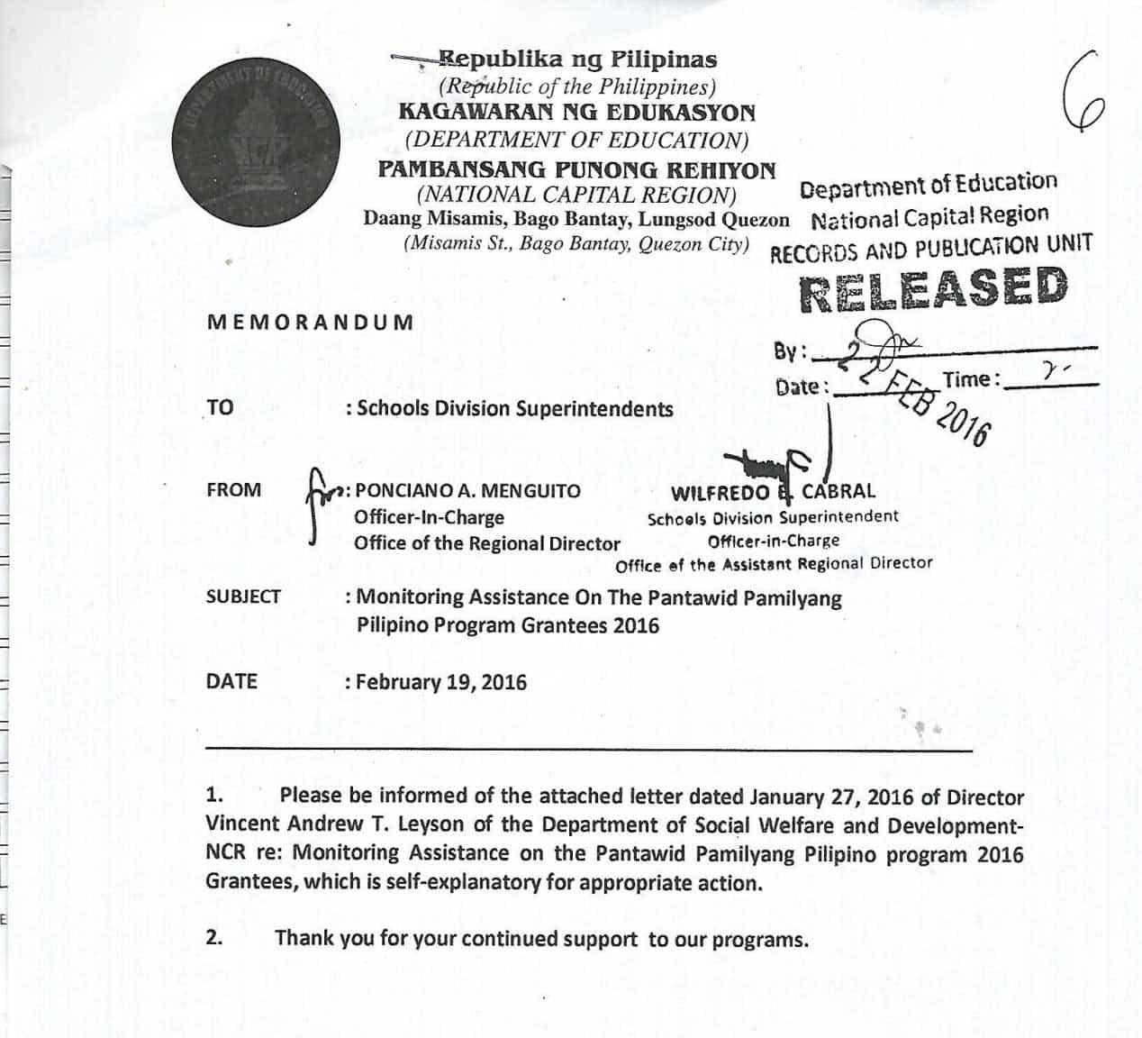 pantawid pamilyang pilipino program thesis Pantawid pamilyang pilipino program - dimasalang 764 likes 35 talking about this showcasing the implementation of pantawid pamilyang pilipino program.