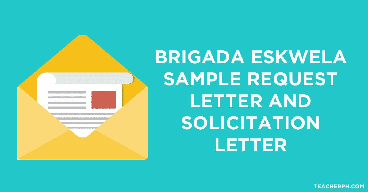 Brigada Eskwela Sample Request Letter And Solicitation
