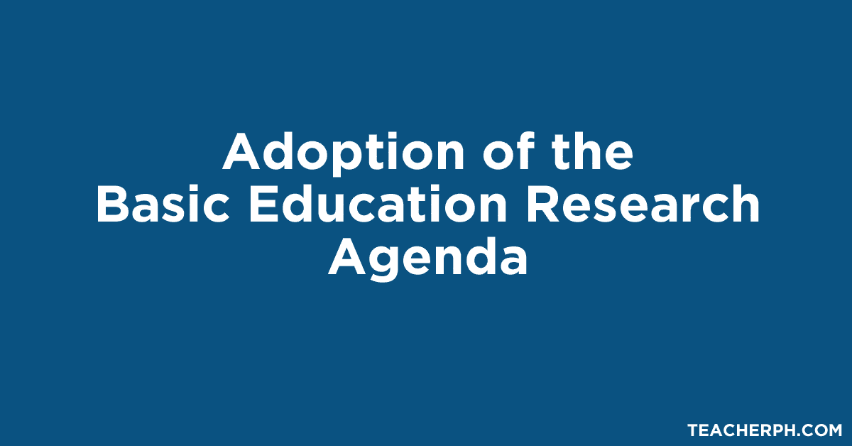 Adoption of the Basic Education Research Agenda