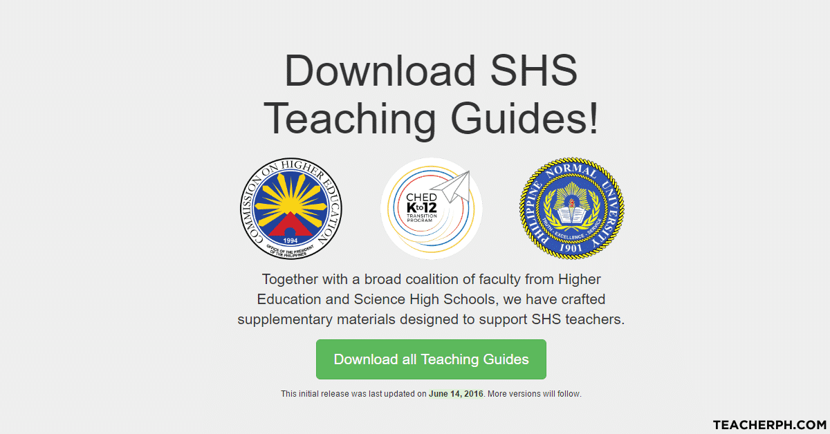 Download: Senior High School SHS Teaching Guides - TeacherPH