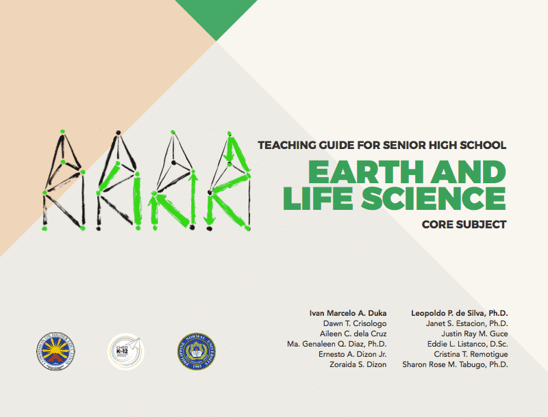 Senior High School SHS Teaching Guides Earth and Life Science