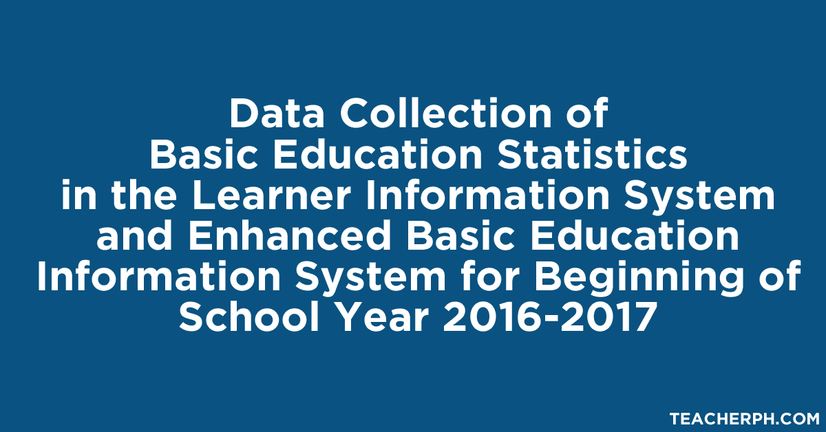 Data Collection of Basic Education Statistics in the LIS and EBEIS