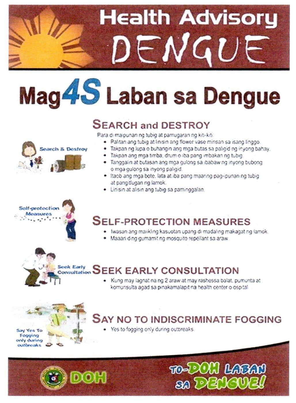 Mga 4S Laban sa Dengue