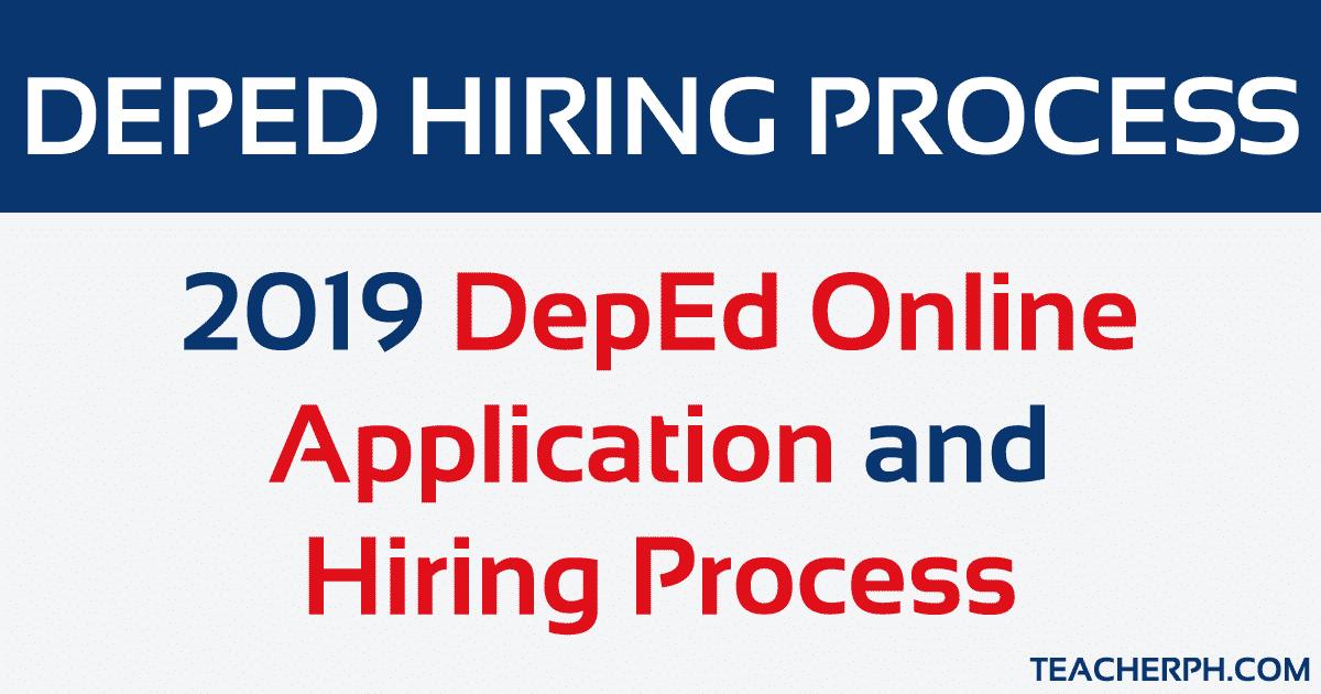 2019 DepEd Online Application and Hiring Process - TeacherPH