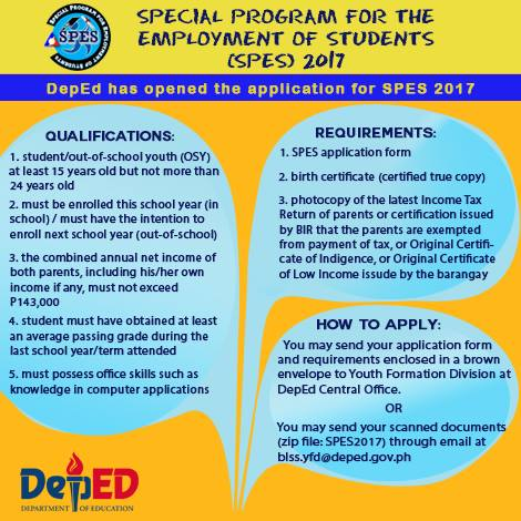 DepEd SPES 2017