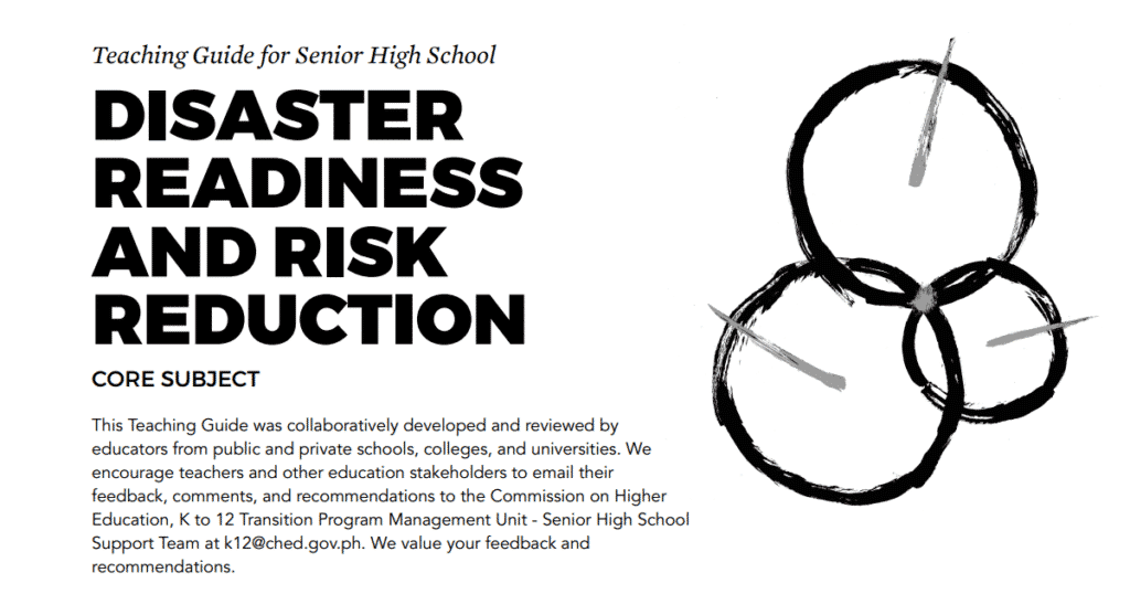 Disaster Readiness and Risk Reduction Senior High School SHS Teaching Guide