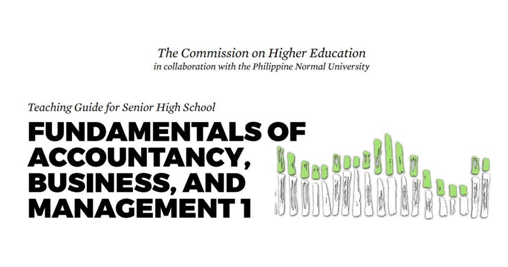 Fundamentals of ABM 1 Senior High School SHS Teaching Guide
