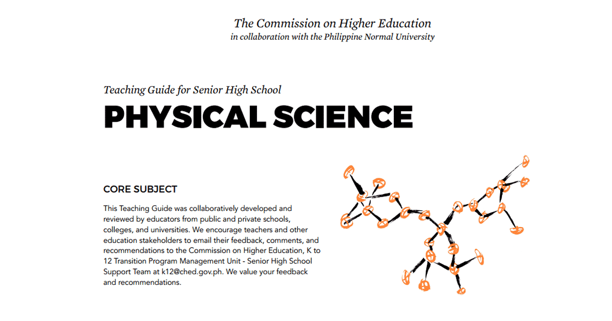 Physical Science: Senior High School SHS Teaching Guide