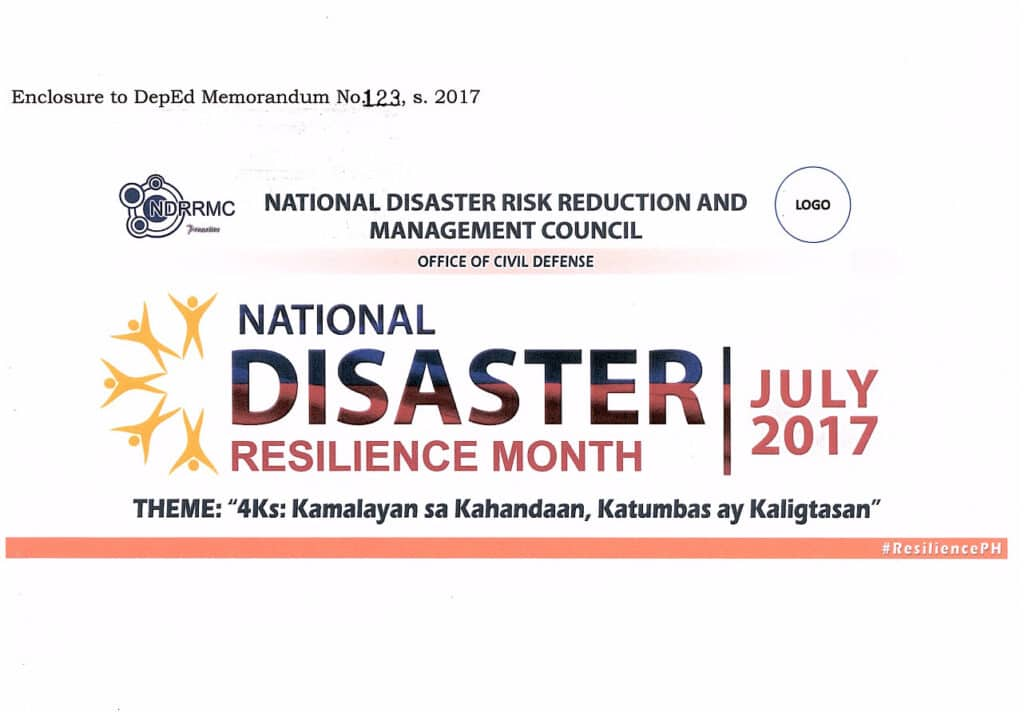 2017 National Disaster Resilience Month