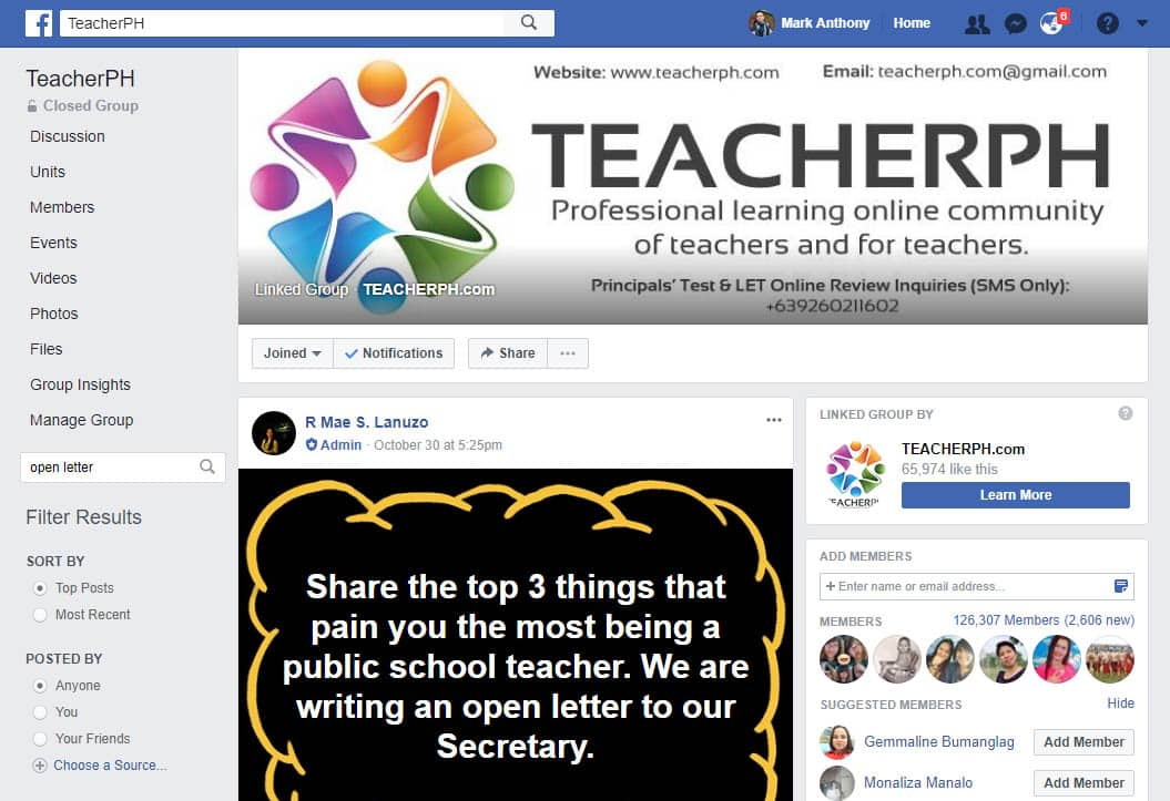 TeacherPH Facebook Group