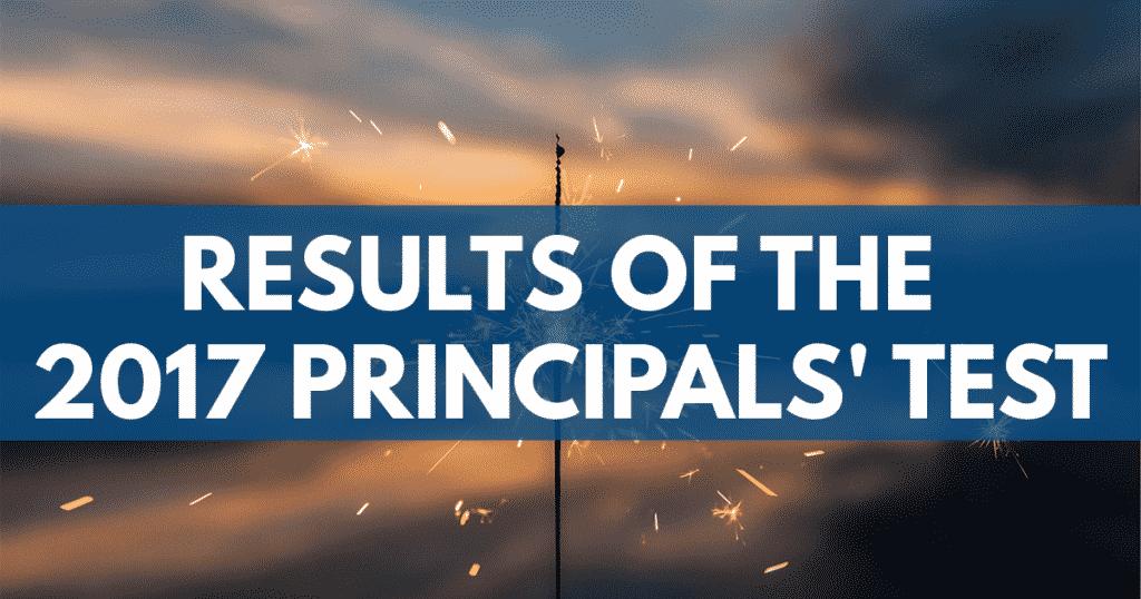 Results 2017 Principals' Test NQESH