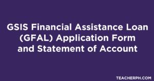 GSIS Financial Assistance Loan (GFAL) Application Form