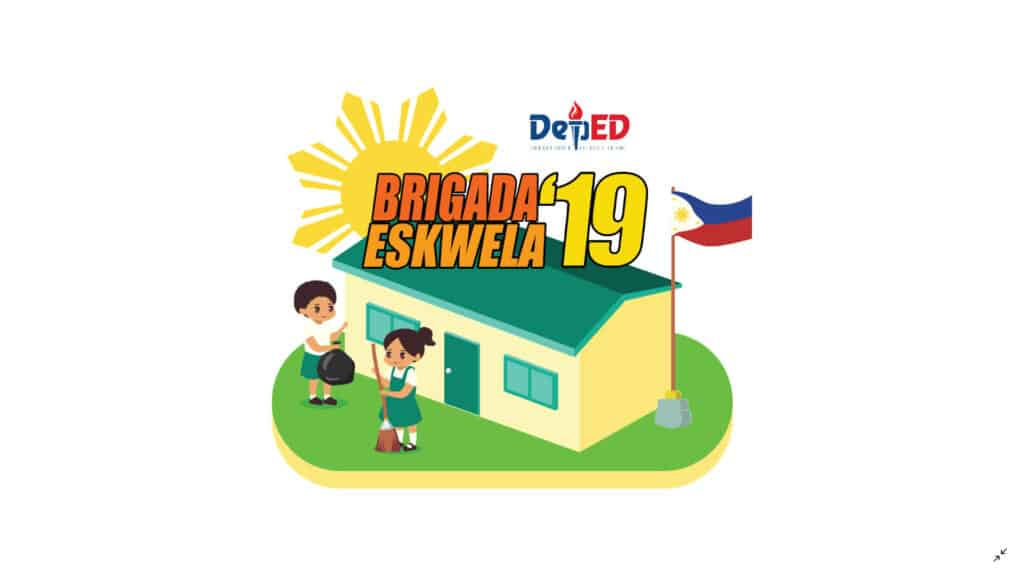 Non Govt High School Teachers Nibondon 2019 Picture: 2019 Brigada Eskwela Official Banner, Logo, Shirt Design