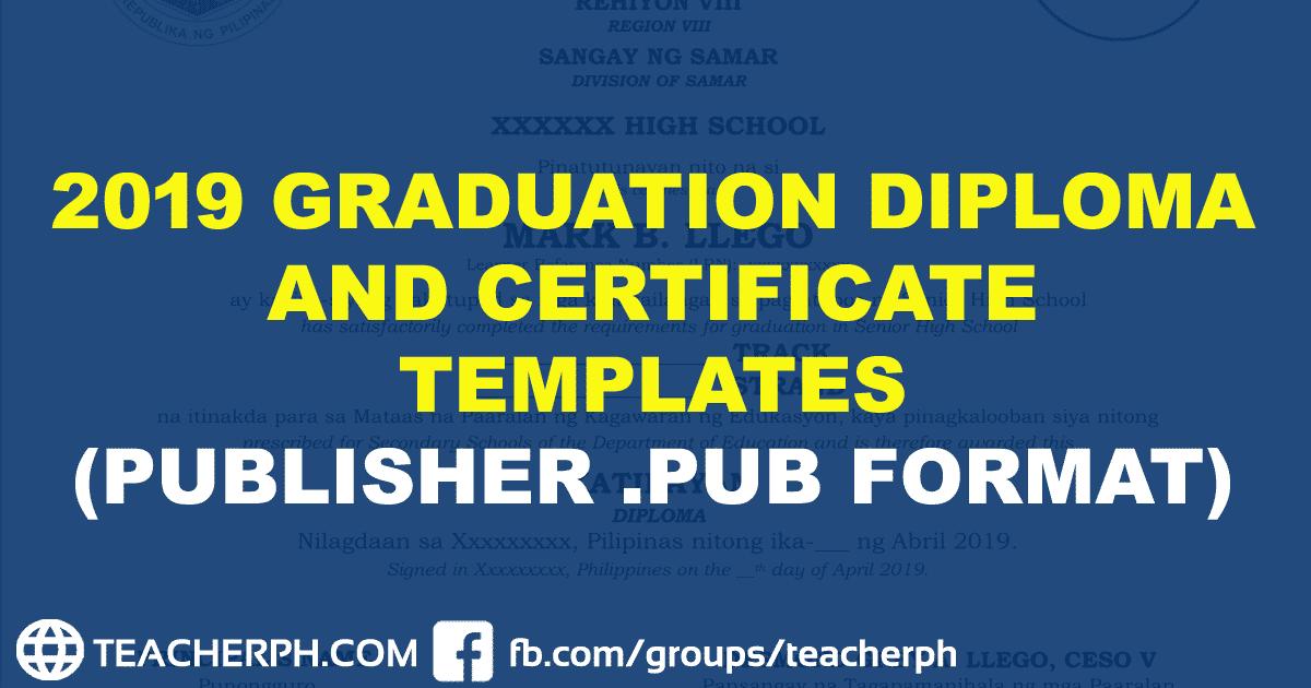 2019 Graduation Diploma and Certificate Templates ...