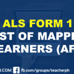 ALS FORM 1 LIST OF MAPPED LEARNERS (AF1)