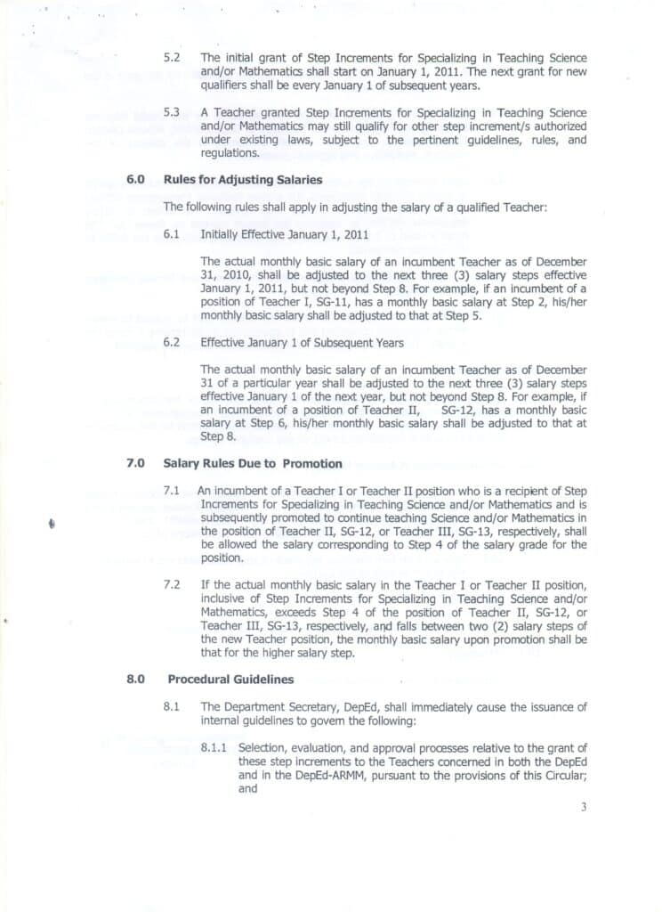 DBM NATIONAL BUDGET CIRCULAR NO. 531, S. 2011