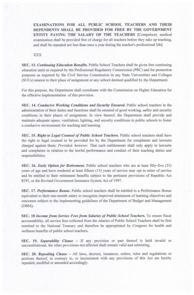 Expanded Magna Carta for Public School Teachers Act