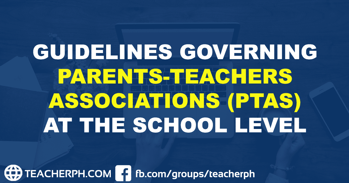 2019 DepEd Guidelines Governing Parents-Teachers