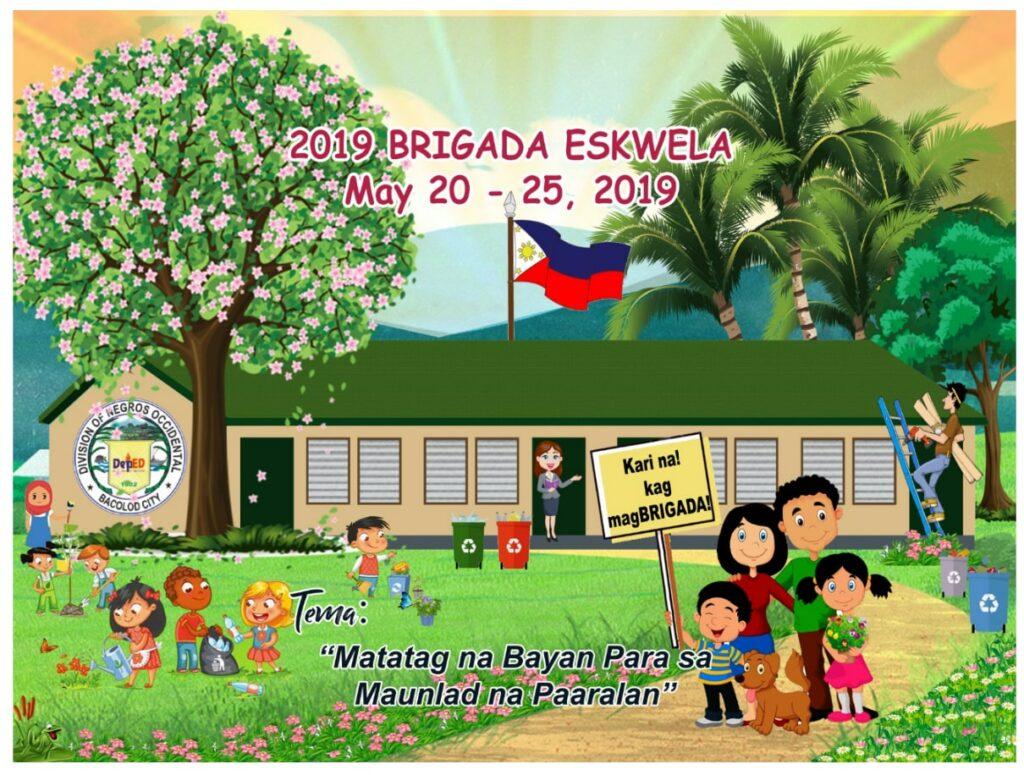 DepEd Division of Negros Occidental Official Brigada Eskwela Tarpaulin Design