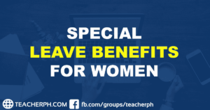 SPECIAL LEAVE BENEFITS FOR WOMEN