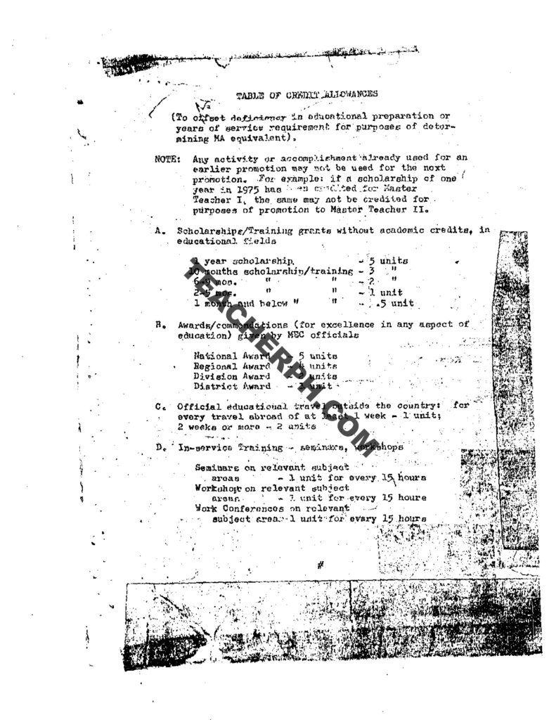 MEC ORDER NO. 10, S. 1979