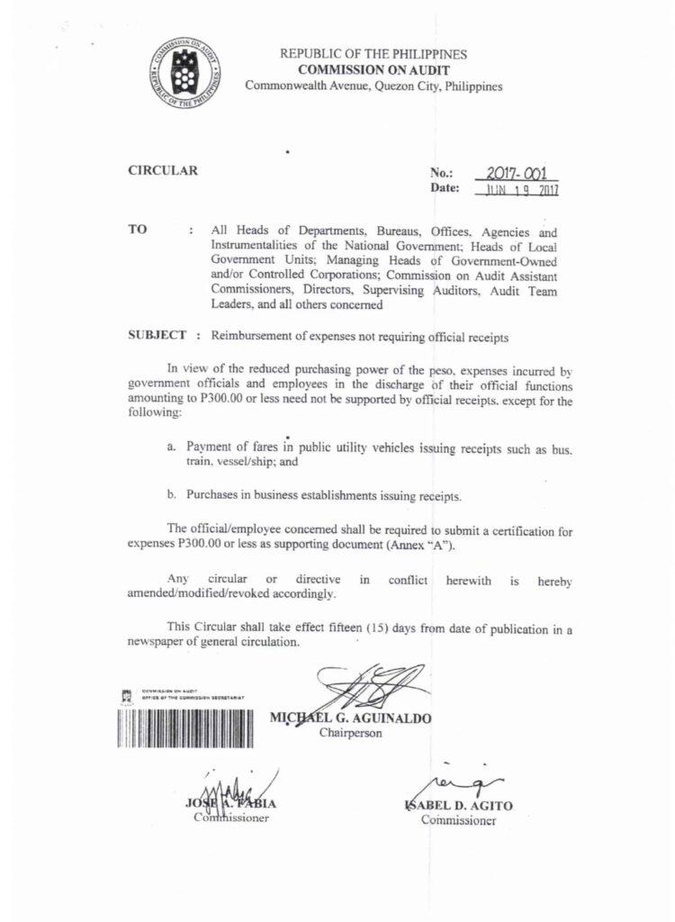CSC Memorandum Circular No. 2017-001