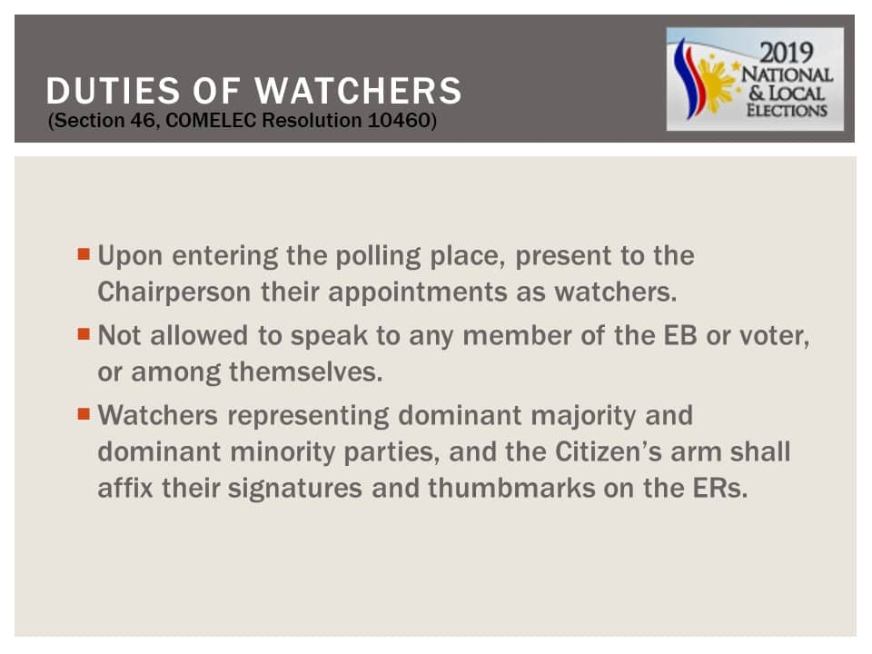 May 13, 2019 National and Local Elections Frequently Asked Questions