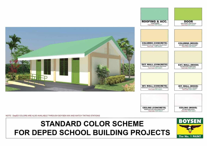 Standard Color Scheme for DepEd School Buildings