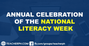 ANNUAL CELEBRATION OF THE NATIONAL LITERACY WEEK