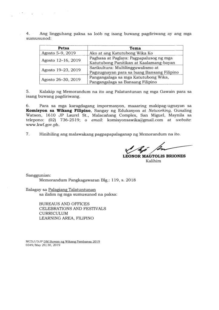 2019 Buwan ng Wikang Pambansa