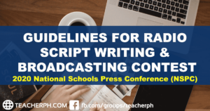 2020 NSPC Guidelines for Radio Script Writing & Broadcasting Contest