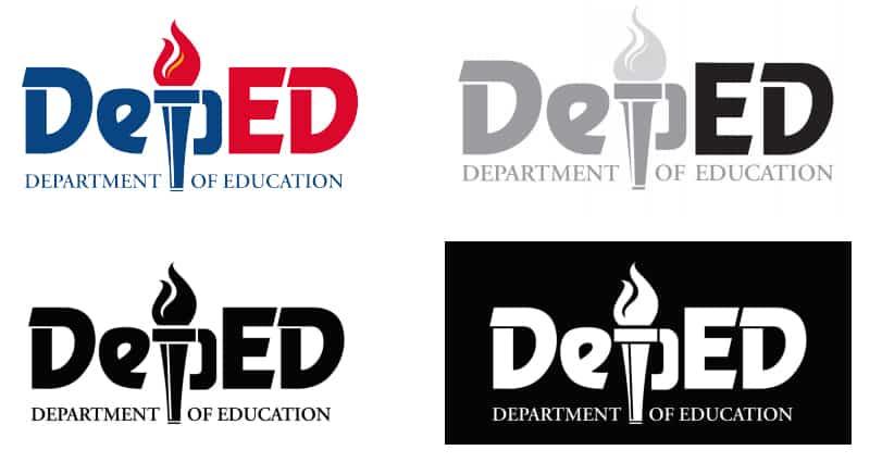 DepEd Logo Color Variations