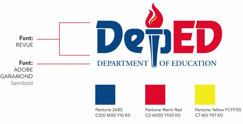 DepEd Logo Color and Font Guide